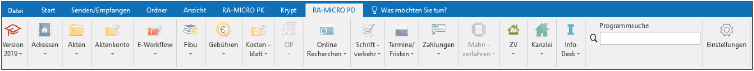 RA-MICRO MS-Outlook PD Personal Desktop Schnittstelle